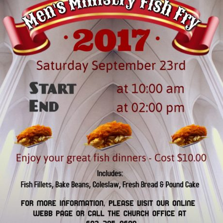 Men's Ministry Fish Fry - Sept. 23rd