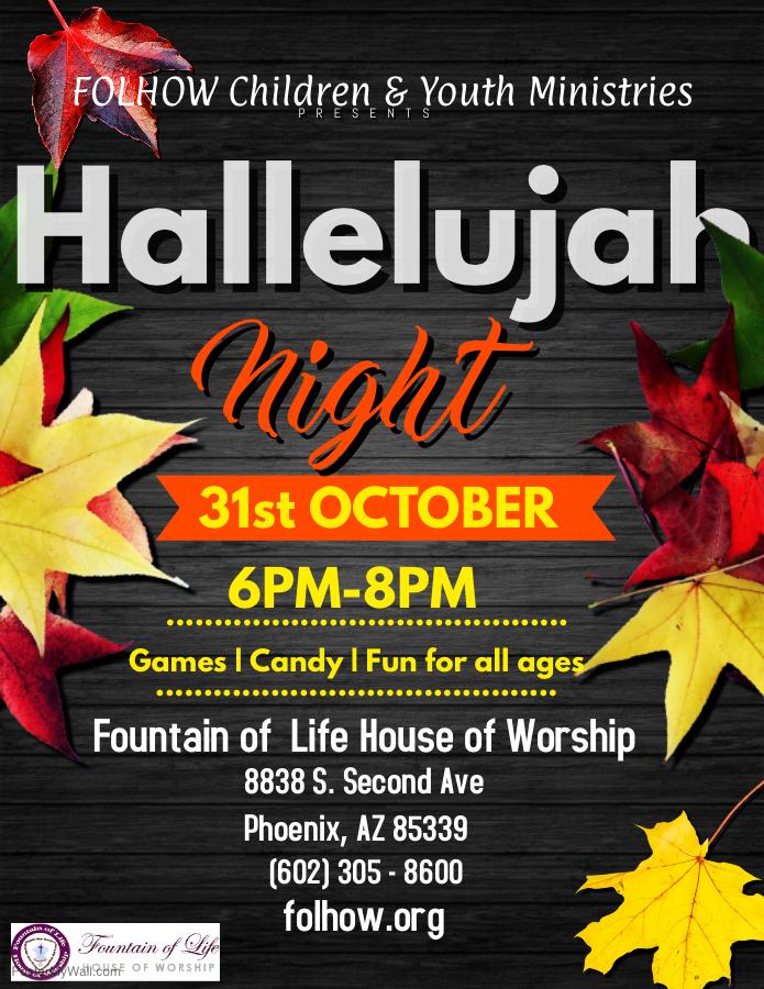 Hallelujah Night - Oct. 31st