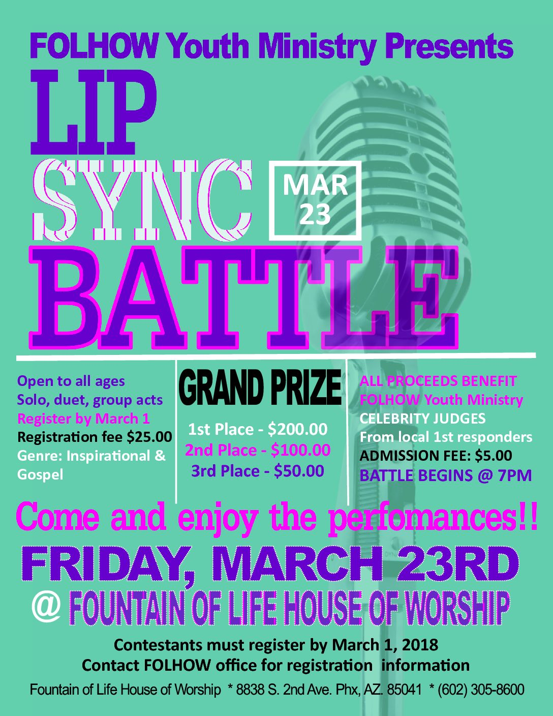 Youth Ministry Lip Sync Battle - Mar. 23rd